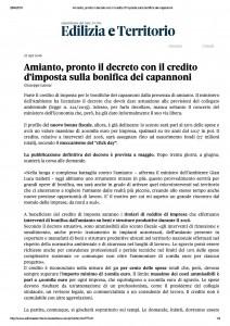 2016-04-27 Il Sole 24 Ore - Credito d'imposta alle bonifiche pag. 1